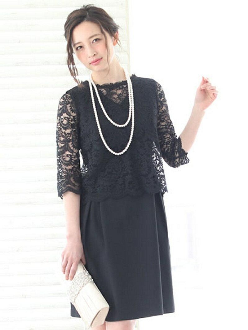 【SALE/31%OFF】Dress Lab Dress Lab/レースワンピースセット クリーム ワンピース【RBA_S】【RBA_E】【送料無料】