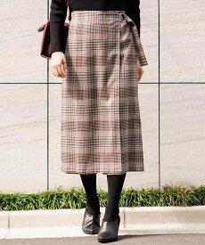 a.v.v ラップスカート風パンツ アー・ヴェ・ヴェ パンツ/ジーンズ パンツその他 ベージュ オレンジ ネイビー【送料無料】