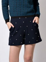 BIJOUX DOUBLE CLOTH short pants