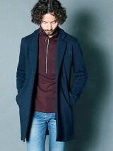BACK BRUSHED URAKE SWEAT CHESTER FIELD COAT