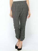 ブリティッシュグレンチェックストッレッチ裾リボンパンツ