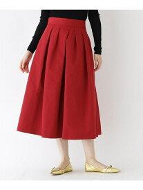 DRESSTERIOR 【洗える】ランダムタックミモレスカート ドレステリア スカート スカートその他 レッド ブラック ブラウン【送料無料】