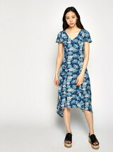 BACK LACEUP FLOWER DRESS