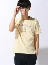 (M)[メンズ]吸汗速乾 ブーツプリントTシャツ