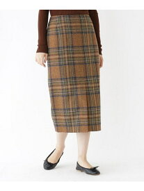 DRESSTERIOR ウールチェックタイトスカート ドレステリア スカート スカートその他 ブラウン グレー カーキ【送料無料】
