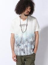 アクセサリーツキパームツリーTシャツ