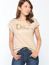 箔プリントロゴTシャツ