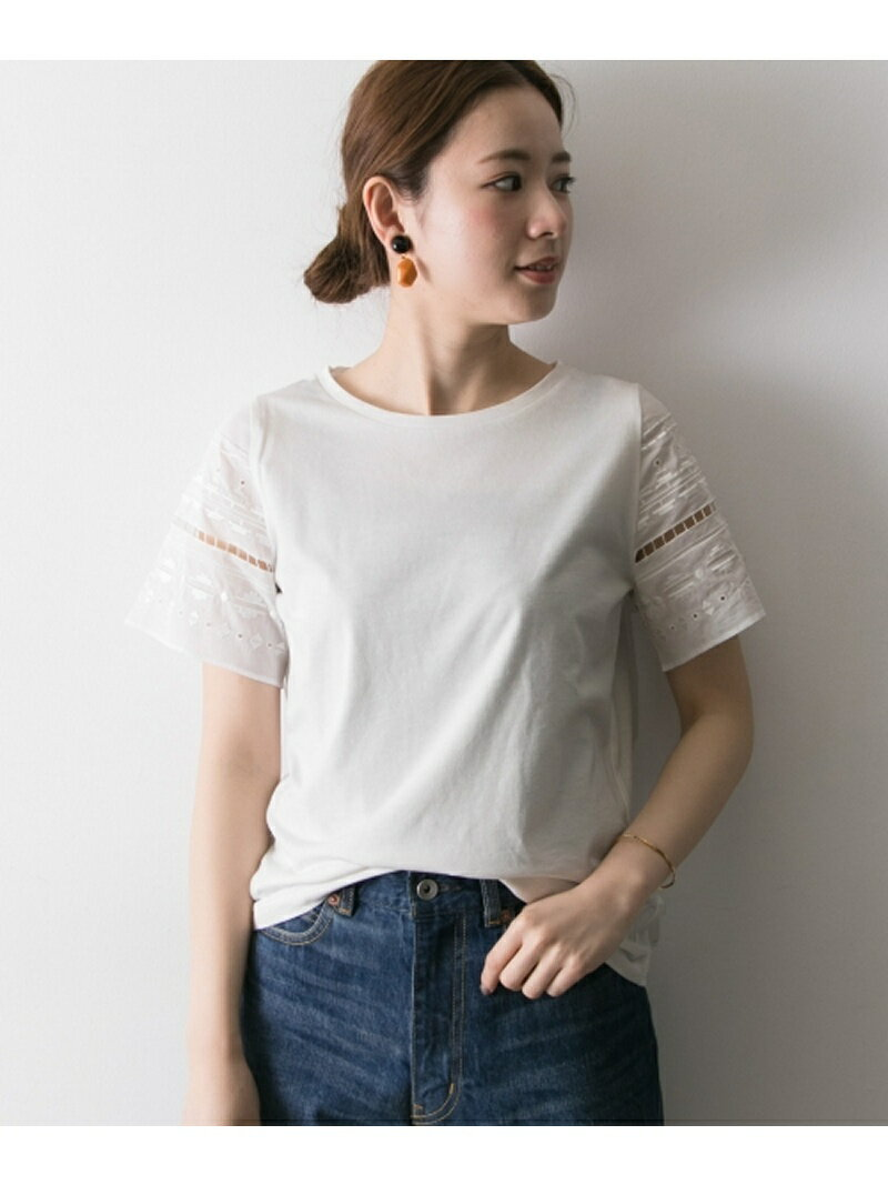 URBAN RESEARCH 幾何刺繍Tシャツ アーバンリサーチ カットソー【送料無料】