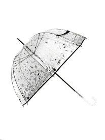 JILLSTUART JILL STUART/(W)星顔料プリントビニール傘 オーロラ アクセント ファッショングッズ 長傘 シルバー ブラック ホワイト【送料無料】