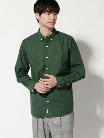 GLOBAL WORK (M)OXフォードB.Dシャツ グローバルワーク シャツ/ブラウス 長袖シャツ グリーン ネイビー ブラウン ホワイト ブルー