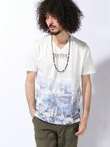 (M)アクセサリーツキパッチワークTシャツ