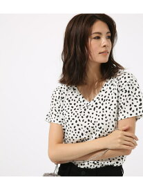 【SALE/50%OFF】AZUL by moussy smallレオパVネックTEE アズールバイマウジー カットソー カットソーその他 グレー ホワイト ベージュ