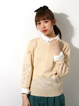 LACY EMBROIDERY KNIT tops