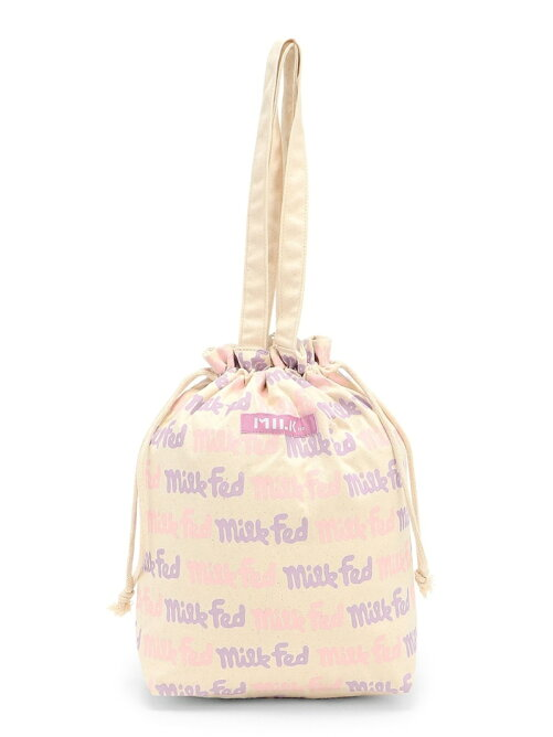 LOGO PATTN DRAWSTRING BAG