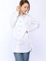 (W)ソリッドチュニックシャツ