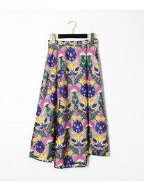 GRACE CONTINENTAL オットマン刺繍ラップスカート グレースコンチネンタル スカート スカートその他 ピンク ブラック【送料無料】