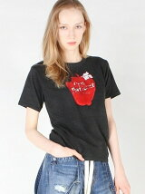 TO GOUGE apple T/CベーシックTシャツ