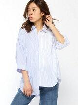 【BROWNY】(L)アシンメトリーレースアップシャツ