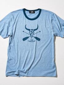 【SALE/45%OFF】5LAKES&MT バッファローTシャツ ファイブレイクス・アンド・エムティー カットソー Tシャツ ブルー グレー レッド