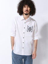 (M)ニットポケット5ブソデシャツ