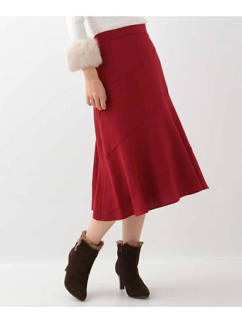 【SALE/70%OFF】OFUON ミディ丈エスカルゴスカート オフオン スカート【RBA_S】【RBA_E】