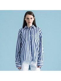 Levi's ストライプシャツNAVYWHITE リーバイス シャツ/ブラウス 長袖シャツ ブルー【送料無料】