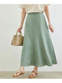 【SALE/30%OFF】ROPE' PICNIC リフラクスキャンバスマーメイドスカート ロペピクニック スカート スカートその他 グリーン グレー ネイビー