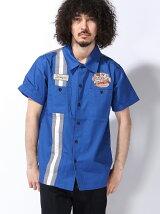 [HOUSTON]ツイル切り替えワークシャツ