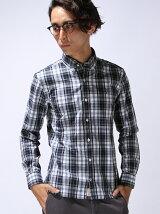 タータンチェックコットンシャツ
