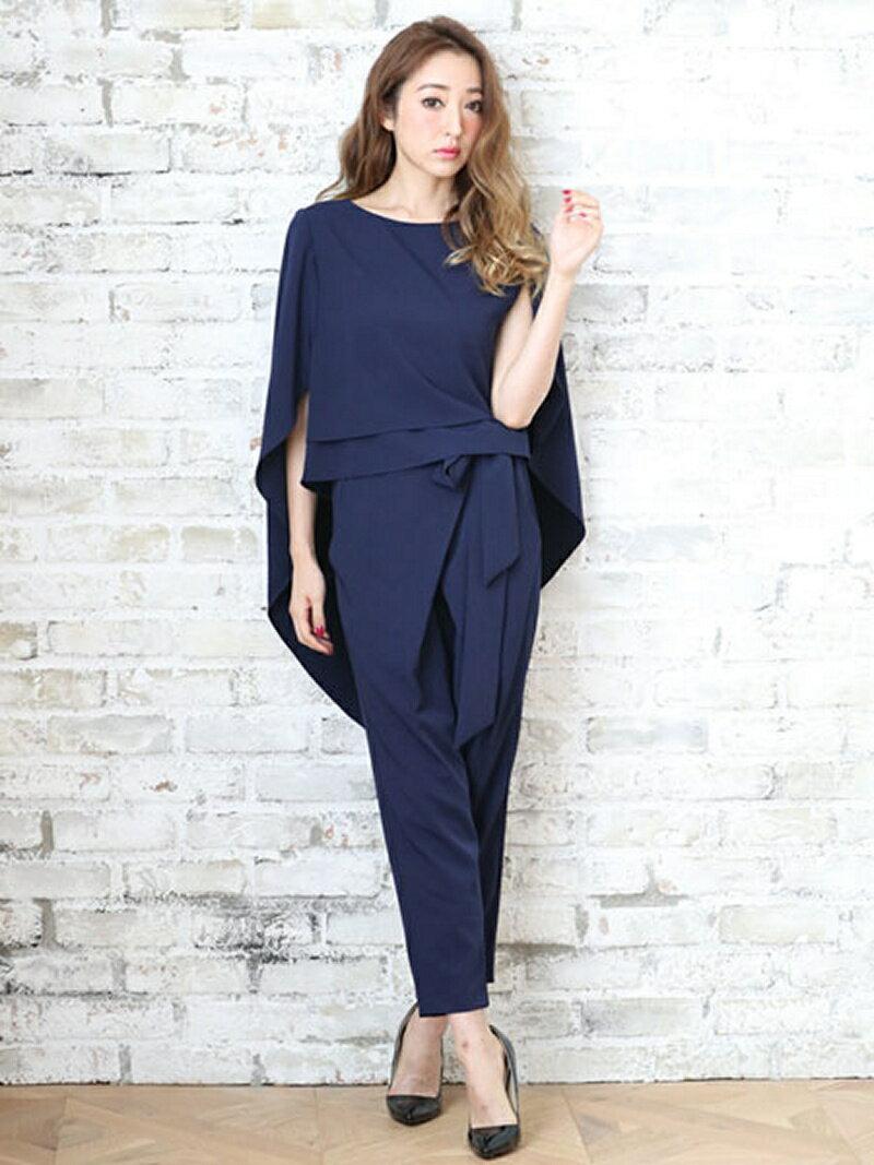 【SALE/25%OFF】Dress Lab Dress Lab/ケープ風セットアップパンツドレス クリーム カットソー【RBA_S】【RBA_E】【送料無料】