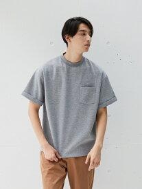 【SALE/50%OFF】koe Men's ポンチ折り返し袖TEE コエ カットソー Uネックカットソー グレー ブラック ブラウン