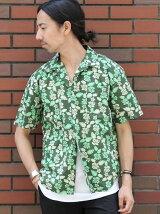 ダークトロピカルオープンカラーシャツ