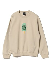 【SALE/40%OFF】BEAMS T 【SPECIAL PRICE】BEAMS T / VKC Graphic Sweat ビームスT カットソー スウェット ベージュ ブルー
