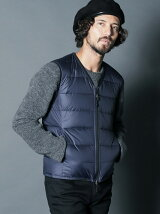 QUILTING NYLON INNER DOWN VEST