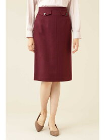 【SALE/60%OFF】NATURAL BEAUTY BASIC [洗える]ウールライクタイトスカート ナチュラルビューティベーシック スカート スカートその他 ベージュ レッド ネイビー
