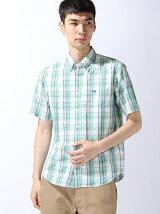 半袖シアサッカーシャツ