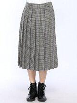 BEAMS BOY / ウール ガングラフ プリーツスカート ビームスボーイ