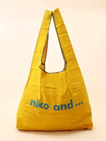 niko and... ORニコロコカラーマルシェBAG ニコアンド バッグ エコバッグ/サブバッグ イエロー カーキ ブルー ベージュ レッド