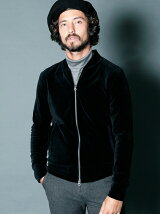 VELOR FULL ZIP BLOUSON
