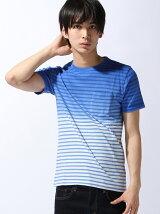 ボーダークルーネック半袖Tシャツ