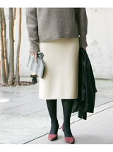 ニュアンスカラーニットスカート
