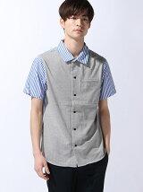 [HOUSTON]切り替えオープンカラーシャツ