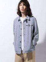 (M)コットンリネンドビーシャツアウター