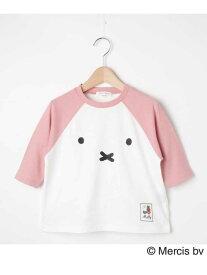 3can4on 【90-120cm】【ミッフィー】ラグランTシャツ サンカンシオン カットソー Tシャツ ピンク ネイビー