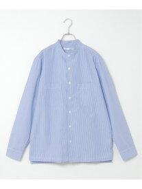 ikka 先染めストライプバンドカラーシャツ イッカ その他 福袋 ブルー