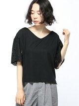 RETRO GIRL/袖刺繍フレア/SCT