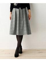 【SS・Lサイズあり】チェック柄ミモレ丈スカート