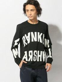 【SALE/70%OFF】FRANKLIN&MARSHALL FRANKLIN&MARSHALL/(M)プリントロングTシャツ ヌーディージーンズ / フランクリンアンドマーシャル カットソー Tシャツ ブラック