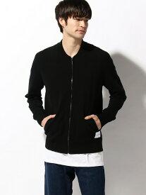 【SALE/60%OFF】Calvin Klein Jeans 【カルバン クライン ジーンズ】 A- ZIP UP CARDIGAN カルバン・クライン ニット カーディガン ブラック グレー【送料無料】