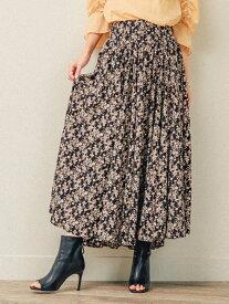 【SALE/50%OFF】LADYMADE ウエストコルセットフレアSK レディメイド スカート ロングスカート ブラック ブルー【送料無料】